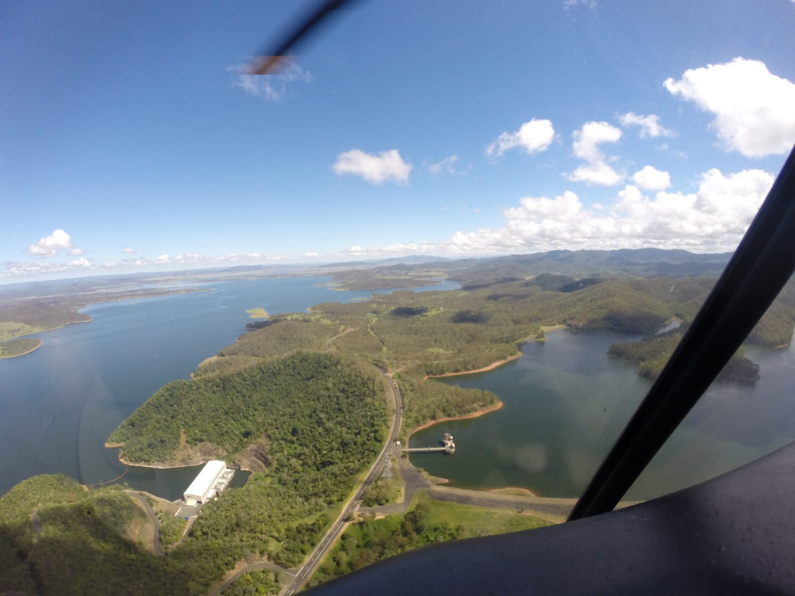 wivenhoe dam, helicopter flights brisbane