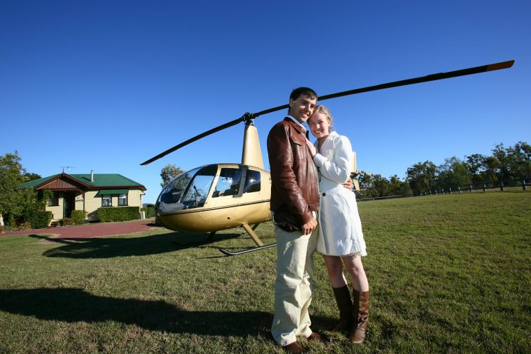 Wedding flight to Spicers Hidden Vale