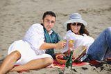 picnic lunch, moreton island, sand, surf, romance, valentines day, Proposal.