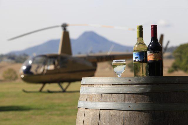 helicóptero pub crawl tour bares scenic rim