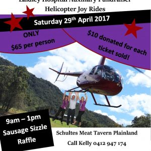 meat run by helicopter, scenic rim, ipswich, raffle