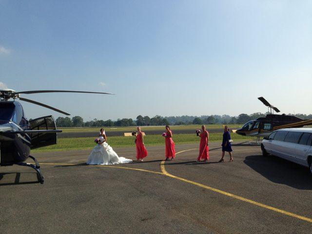 wedding by helicopter, brisbane wedding, celebrity,