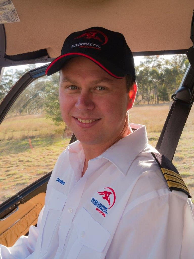 Helicopter Pilot, Damien Anderson