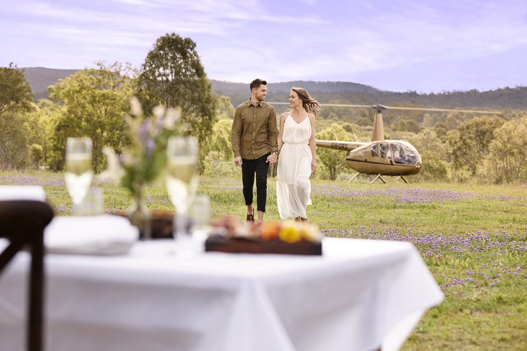 Take lunch in a helicopter, brisbane charter