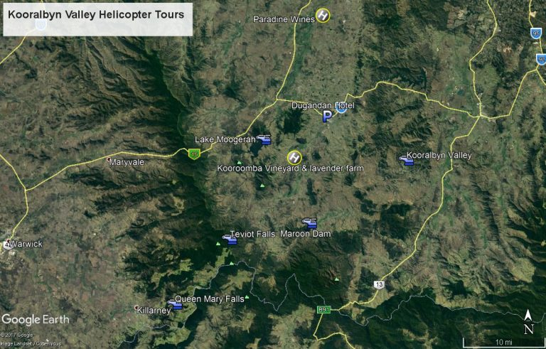 koorralbyn Valley, Helicopter flights, kooralbyn valley wine tour, Wine lunch kooralbyn,