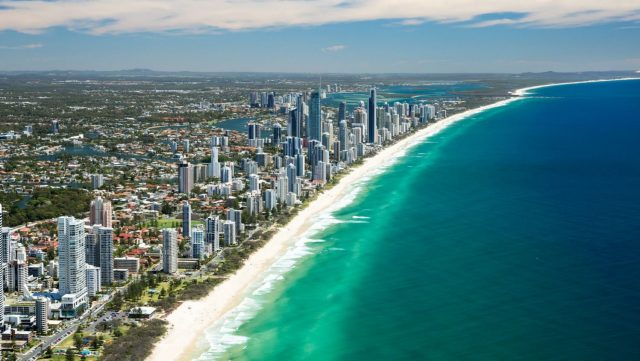 commonwealth games transfers, helicopter, 2018, gold coast, queensland, opening ceremony, com gmaes,